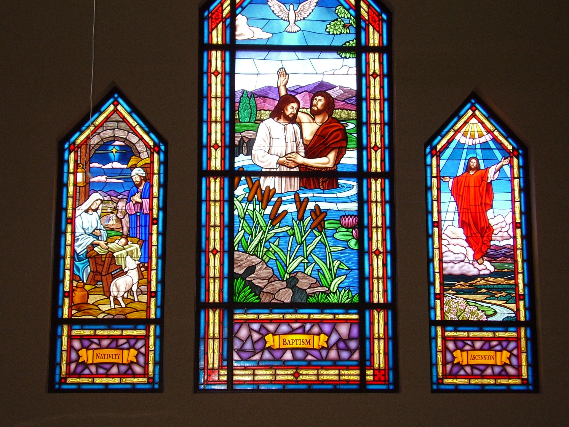 fedad88a2ace Stained Glass Windows at Bethany Christian Church in Arapahoe