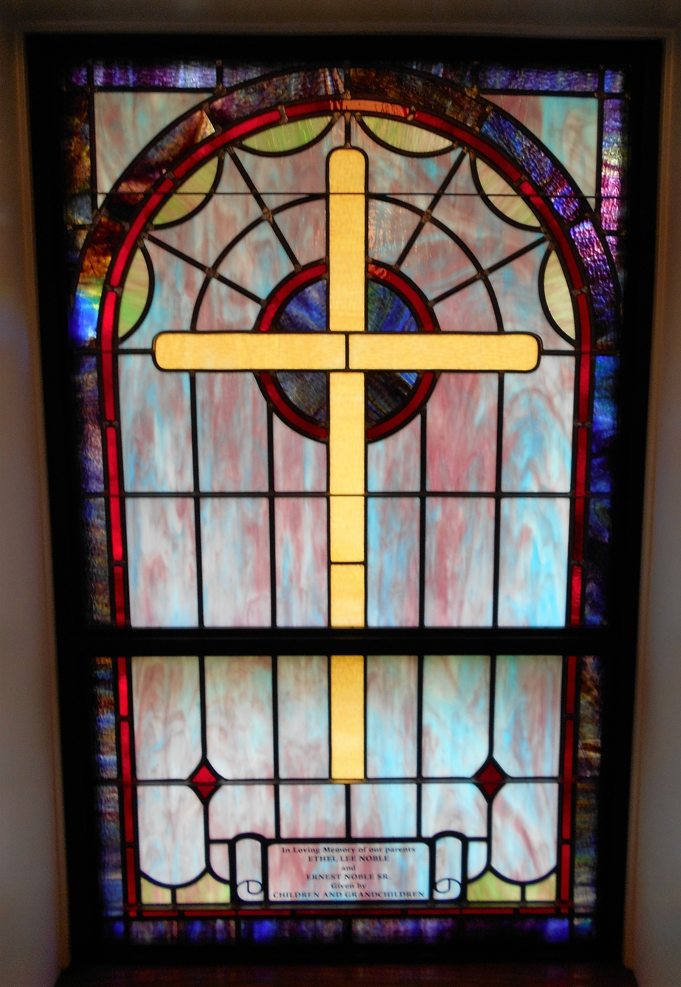 Stained Glass Windows At Bibleway Church Of Christ In Columbia SC