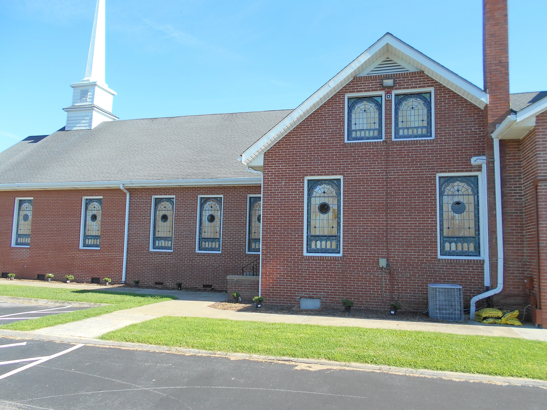 Stained Glass Windows At Macedonia Christian Church In Williamston Nc